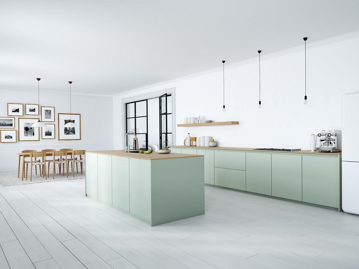 Full Size of Modern Nordic Kitchen In Loft Apartment. 3d Rendering Küche Küche Mintgrün