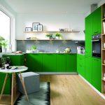 Küche Fliesenspiegel Grün Küche Gardinen Mintgrün Küche Metro Fliesen Grün Küche Design Grün Küche Küche Mintgrün