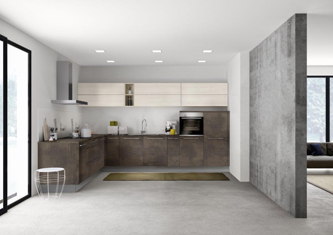 Large Size of Stone 265   Kupfer Oxid / Manhattan 49b   Kiruna Birke Küche Einbauküche Mit E Geräten