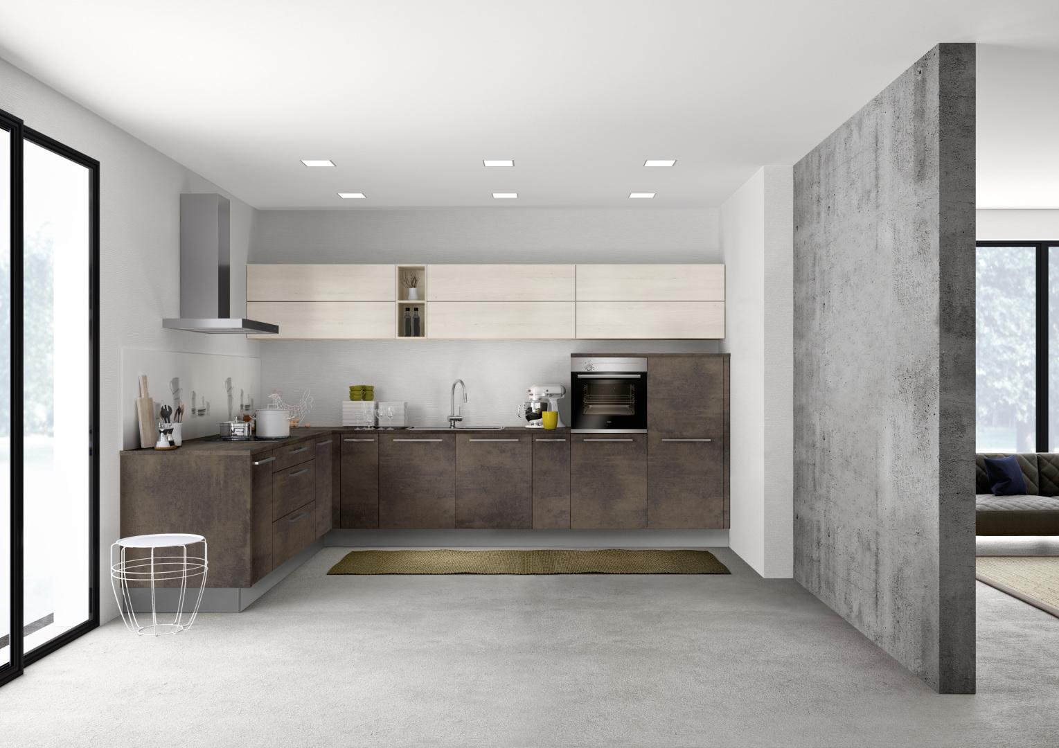 Full Size of Stone 265   Kupfer Oxid / Manhattan 49b   Kiruna Birke Küche Einbauküche Mit E Geräten