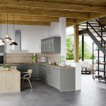 Küche Mintgrün Küche Home H42   Graublau Matt 413