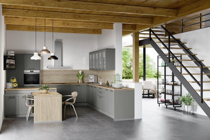 Medium Size of Home H42   Graublau Matt 413 Küche Küche Mintgrün