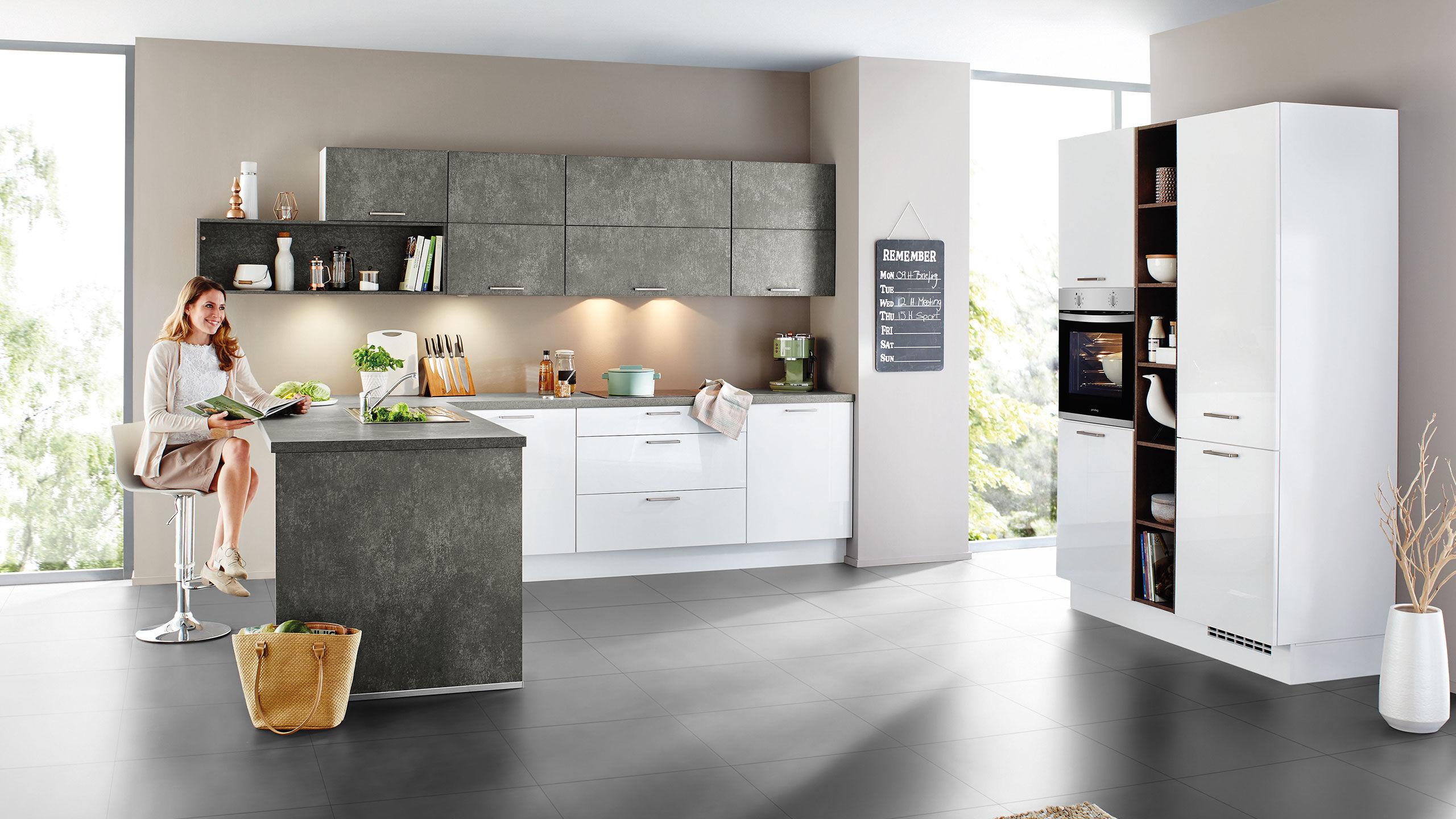 Full Size of Küche Grau Hochglanz Ikea Küche Weiß Hochglanz Arbeitsplatte Grau Küche Weiß Grau Hochglanz Küche In Grau Hochglanz Küche Küche Grau Hochglanz