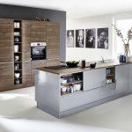Küche Grau Hochglanz Küche Lux   Papyrusgrau HG / Artwood   Nussbaum Royal