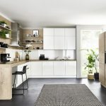 Küche Hochglanz Weiss Küche Lux   Weiß HG / Timber   Steineiche