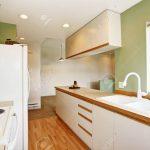 Simple Mint Kitchen Interior In Empty House Küche Küche Mintgrün