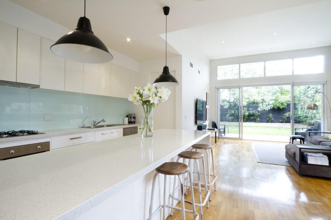 Large Size of Contemporary Kitchen Living Room Küche Küche Mintgrün