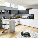 Küche L Form Küche Feel   Arcticweiss / Schwarz