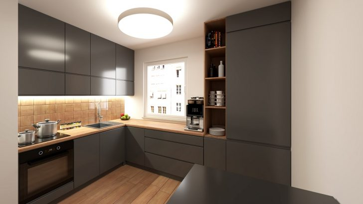 Medium Size of Modern Gray Kitchen Küche Küche L Form