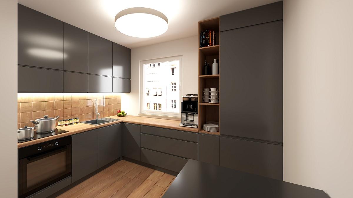 Full Size of Modern Gray Kitchen Küche Küche L Form