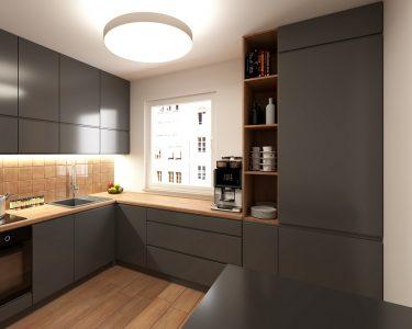 Küche L Form Küche Modern Gray Kitchen