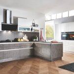 Portland   Zement Anthrazit / Nova Lack   Weiß HG Küche Einbauküche Mit E Geräten