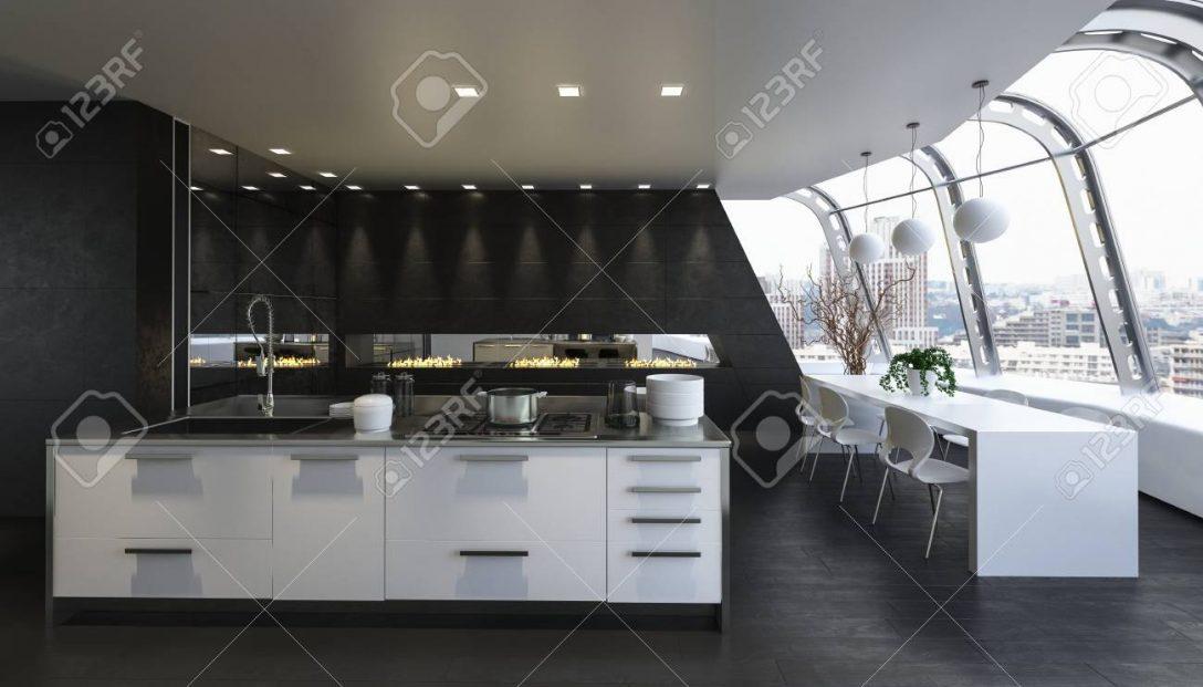 Large Size of Kitchen Island In Modern Apartment Küche Küche Mit Insel