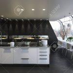 Kitchen Island In Modern Apartment Küche Küche Mit Insel