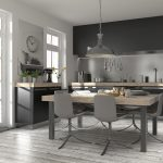 Modern Küche Edlel Holz Einbauküche Wohnküche Küchendesign Küche Küche Rosa