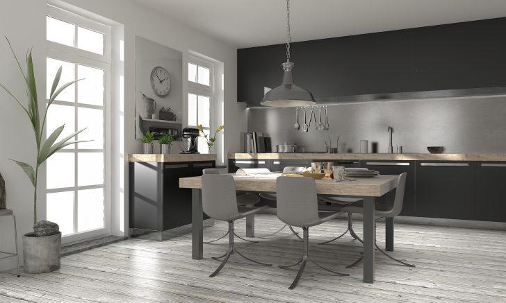Medium Size of Modern Küche Edlel Holz Einbauküche Wohnküche Küchendesign Küche Küche Rosa