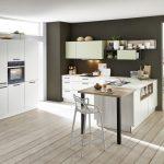 Küche U Form Küche Soft Lack   Weiss / Avocado
