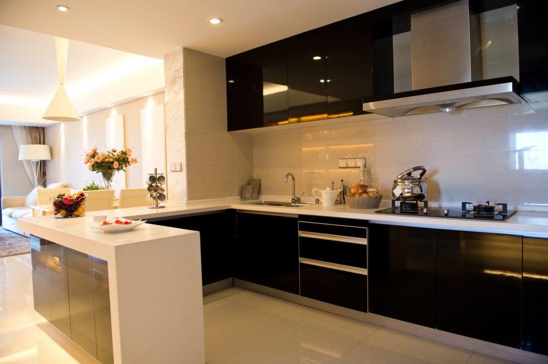 Large Size of Modern Kitchen Küche Küche U Form Mit Theke