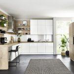 Küche U Form Küche Lux   Weiß HG / Timber   Steineiche