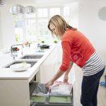 Abfallbehälter Küche Frau Singelküche Mit Tresen Landhaus Arbeitsplatte Wandbelag Alno Erweitern Grau Hochglanz Wandverkleidung Einbauküche Kaufen Küche Abfallbehälter Küche