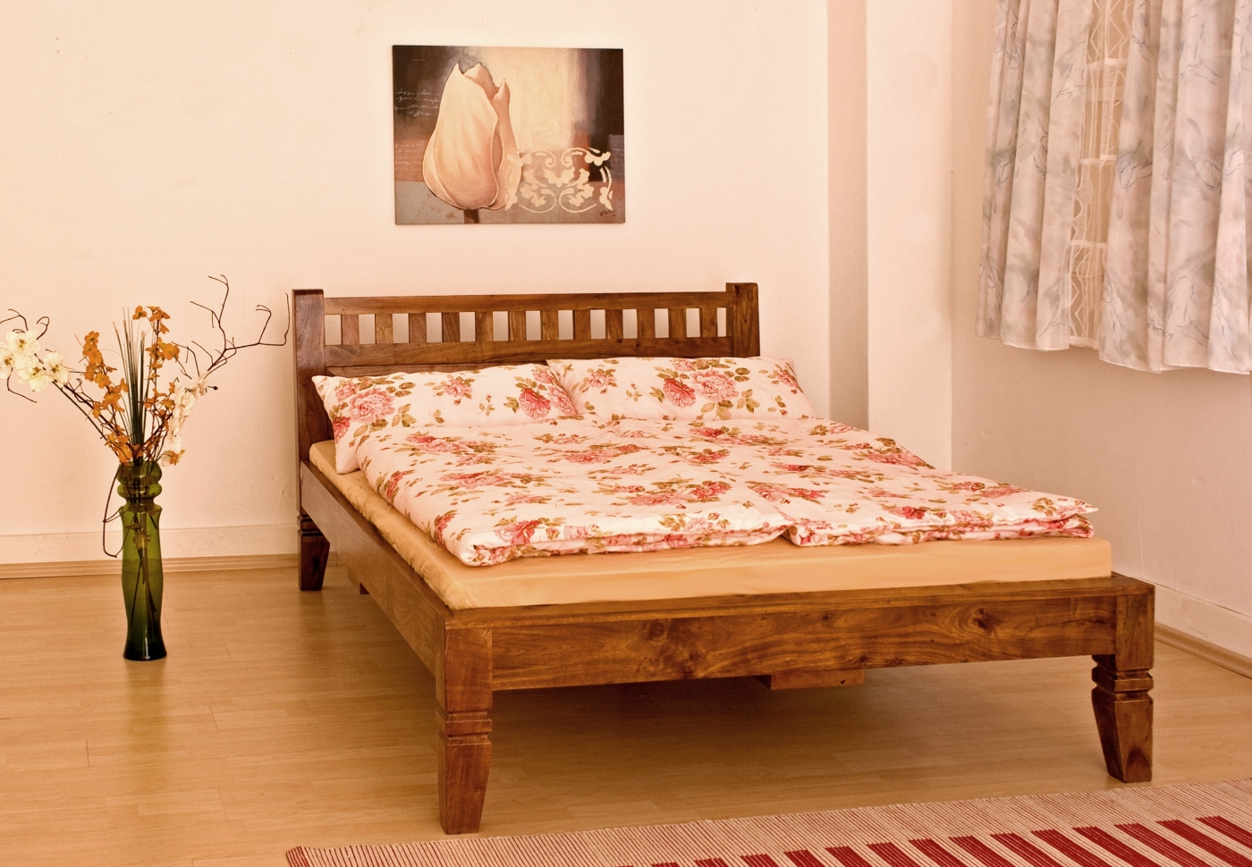 Full Size of Massivholz Bett In Farbe Nougat Honig Aus Edlem Akazienholz 2m X Metall Kinder Betten Clinique Even Better Make Up Foundation Tojo V Hülsta 100x200 160x200 Bett Bett Massivholz