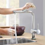 Wasserhahn Für Küche Küche Wasserhahn Für Küche Berhrungslose Kchenarmatur Von Grohe Minta Touch Einbauküche Weiss Hochglanz Schneidemaschine Mit E Geräten Einhebelmischer Wandtatoo