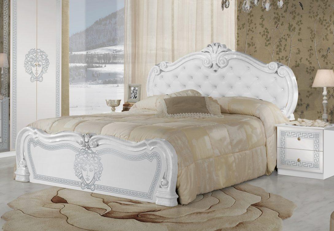 Large Size of Betten Weiß Bett Vilma Medusa 160x200 Cm In Wei Barock Design Mit Polsterung Hochglanz Regal Landhaus Rauch 180x200 100x200 Küche Hängeschrank Wohnzimmer Bett Betten Weiß