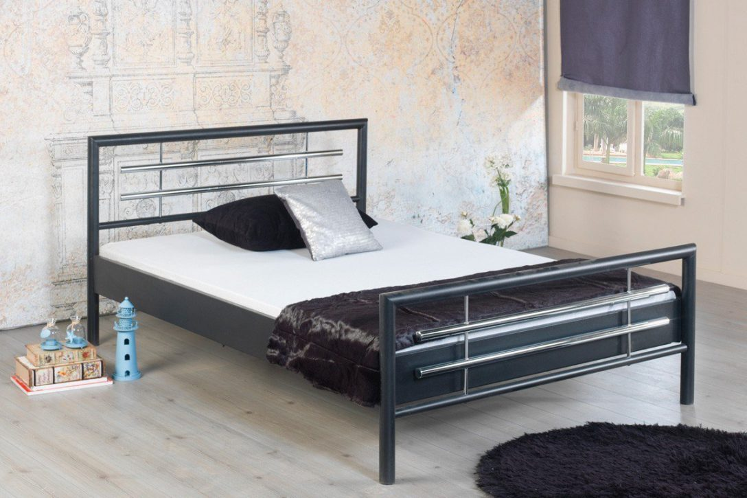 Large Size of Bett Metall Bed Boholly 1030 Metallbett Grau 90 200 Cm Mbel Letz Ihr Schramm Betten Düsseldorf Moebel De Weißes 140x200 Münster Massivholz Ohne Füße Aus Bett Bett Metall