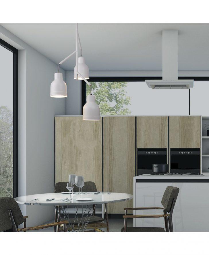 Lampen Küche Led Deckenleuchte Theke Grau Hochglanz ...