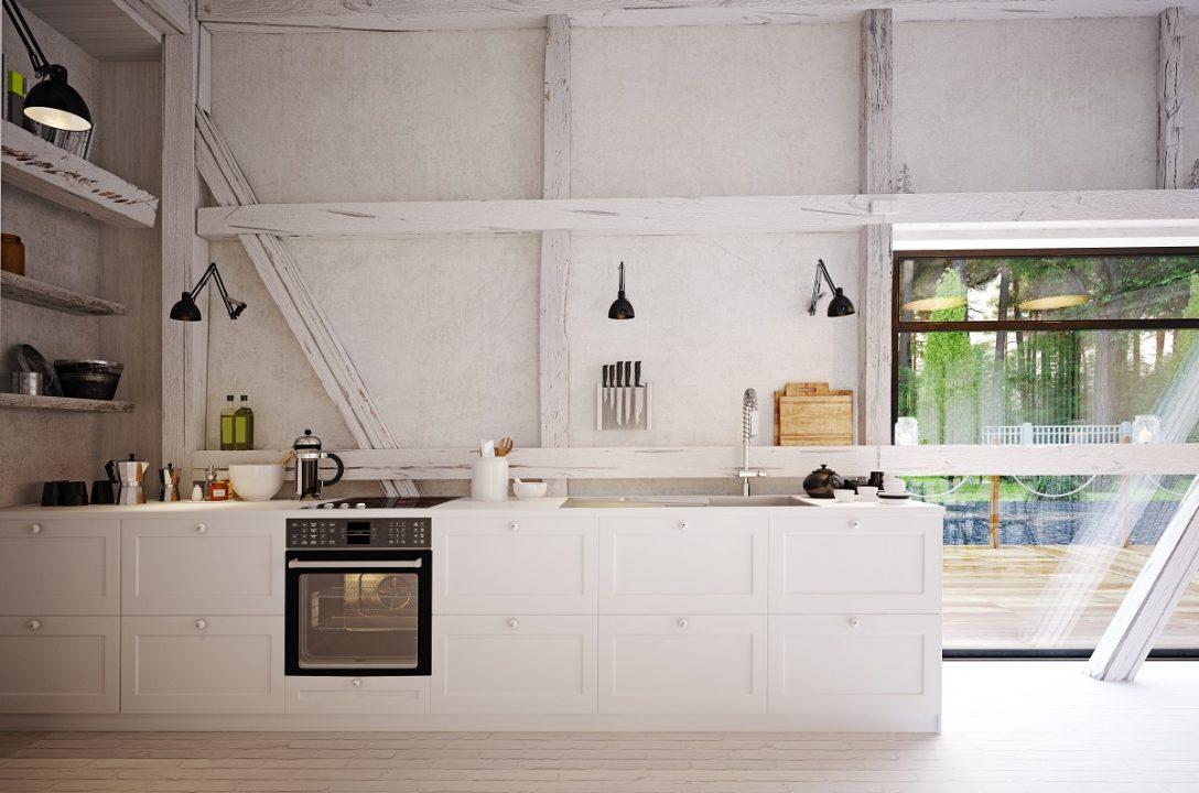 Large Size of Country Kitchen Interior. Küche Landhausküche Weiß