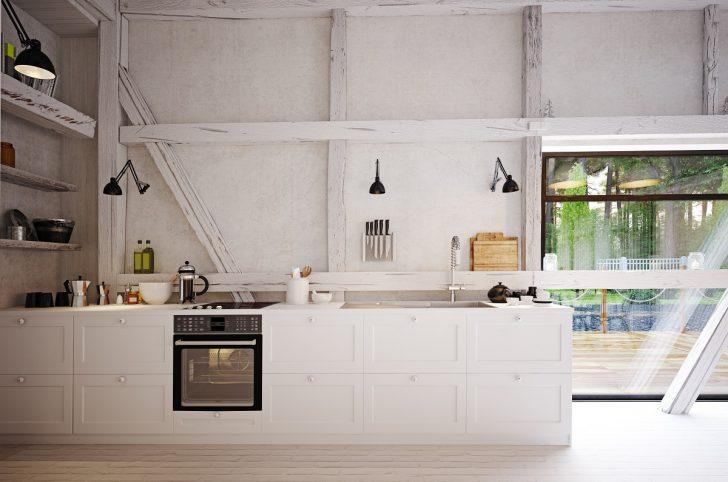 Medium Size of Country Kitchen Interior. Küche Landhausküche Weiß