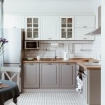 Scandinavian Interior Design. White Grey Kitchen Room Organization Küche Landhausküche Grau