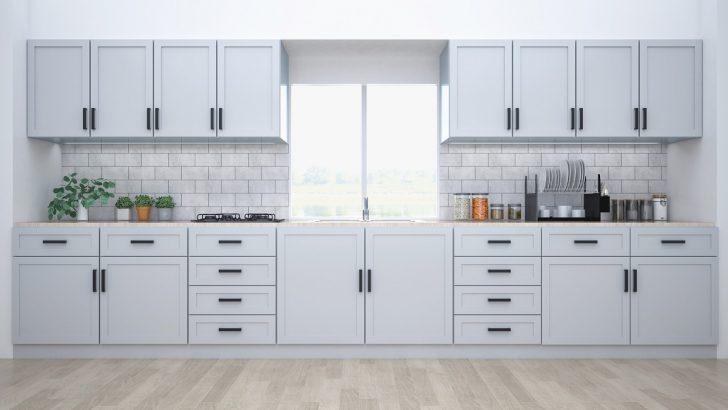 Medium Size of Modern Kitchen Interior With Furniture.3d Rendering Küche Landhausküche Weiß