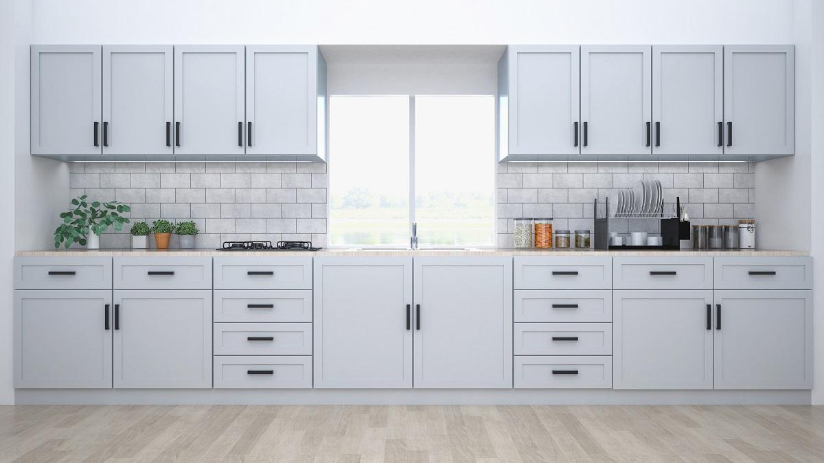 Full Size of Modern Kitchen Interior With Furniture.3d Rendering Küche Landhausküche Weiß