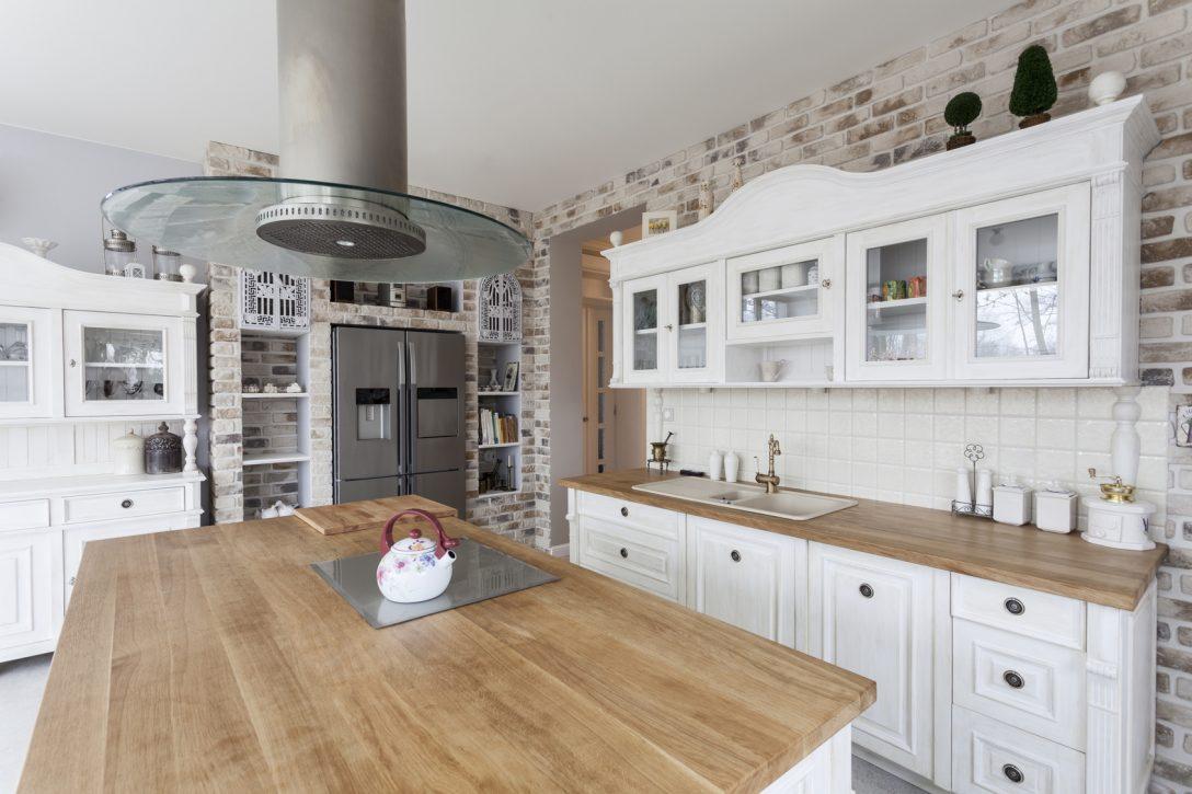 Large Size of Tuscany   Kitchen Shelves Küche Landhausküche Weiß