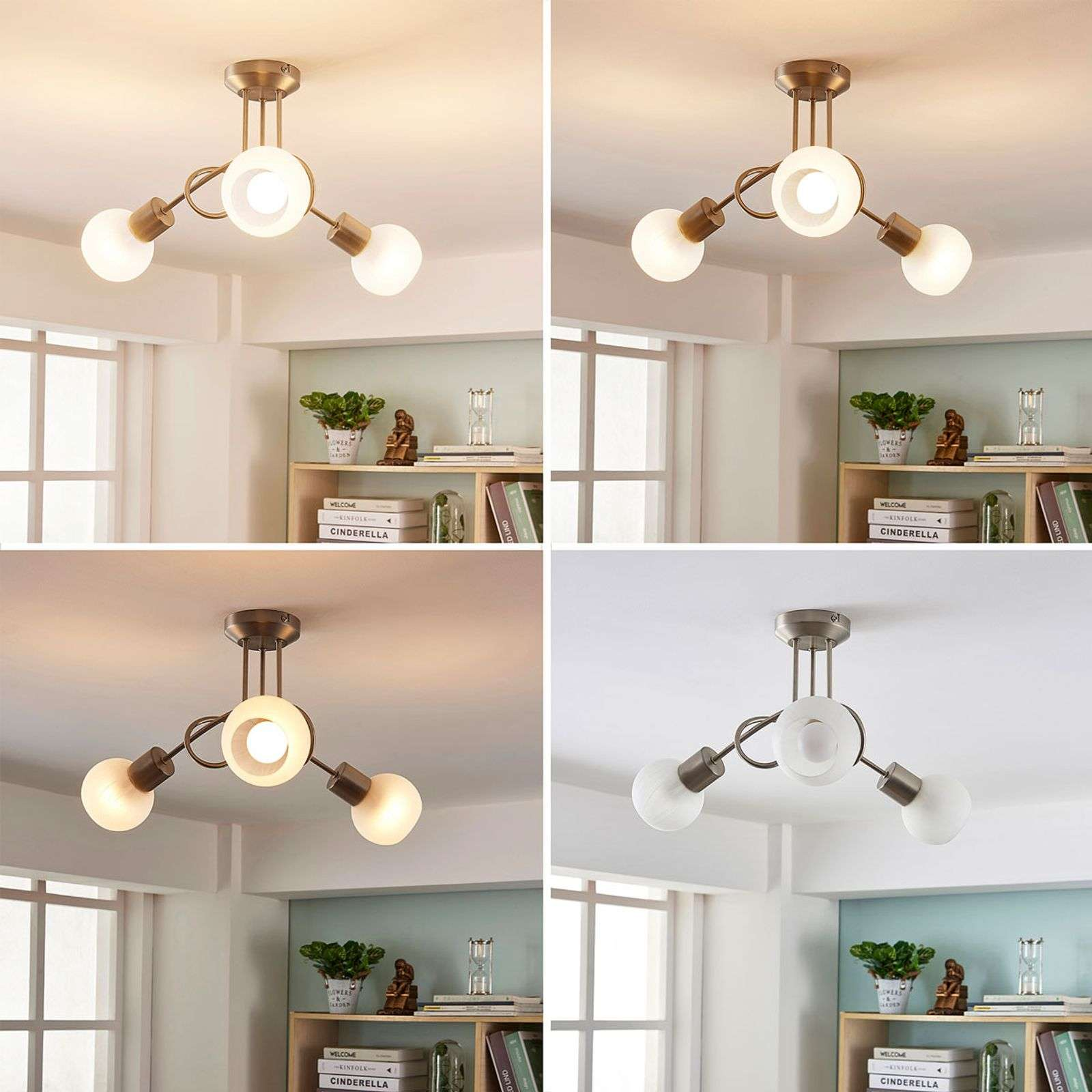 18W LED Deckenleuchte Dimmbar Badleuchte Küche Deckenlampe Wohnzimmer IP44