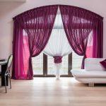Gardinen Für Wohnzimmer Wohnzimmer Rose Curtains In Modern Interior