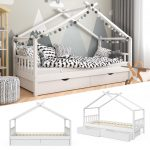 Kinder Bett Vitalispa Kinderbett Design Hausbett Mit Schubladen Real Tojo Balinesische Betten Großes Günstig Kaufen Tagesdecken Für Massivholz Günstiges Bett Kinder Bett