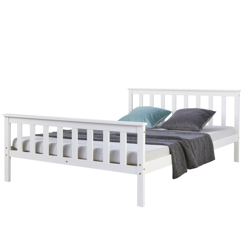 Full Size of Weißes Bett 140x200 Doppelbett Weies Holzbett Gnstig Kaufen Homestyle4ude 120x200 Mit Bettkasten Amerikanisches Rattan Hohe Betten Trends Matratze Outlet Bett Weißes Bett 140x200