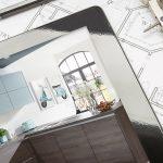 Küche Planen Kostenlos Küche Küche Planen Kostenlos Wandpaneel Glas Türkis Schwingtür Holzregal Landhausküche Grau Deckenleuchten Abluftventilator Aufbewahrung Hängeregal Bartisch