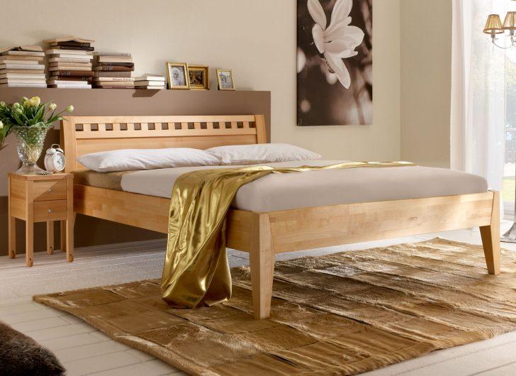 Medium Size of Massivholzbett Aus Naturfarbener Buche Oder Kernbuche Wallis Bett Betten.de