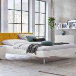 Bett Modern Design Italienisches Puristisch Stabiles Einzel Und Doppelbett In Wei Mit Samt Kopfteil Akuma Schubladen 160x200 Wickelbrett Für Niedrig Podest Bett Bett Modern Design