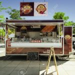 Mobile Küche Küche SCHWERIN, GERMANY, JUNE 2, 2017: Mobile Kitchen In A Food Truck