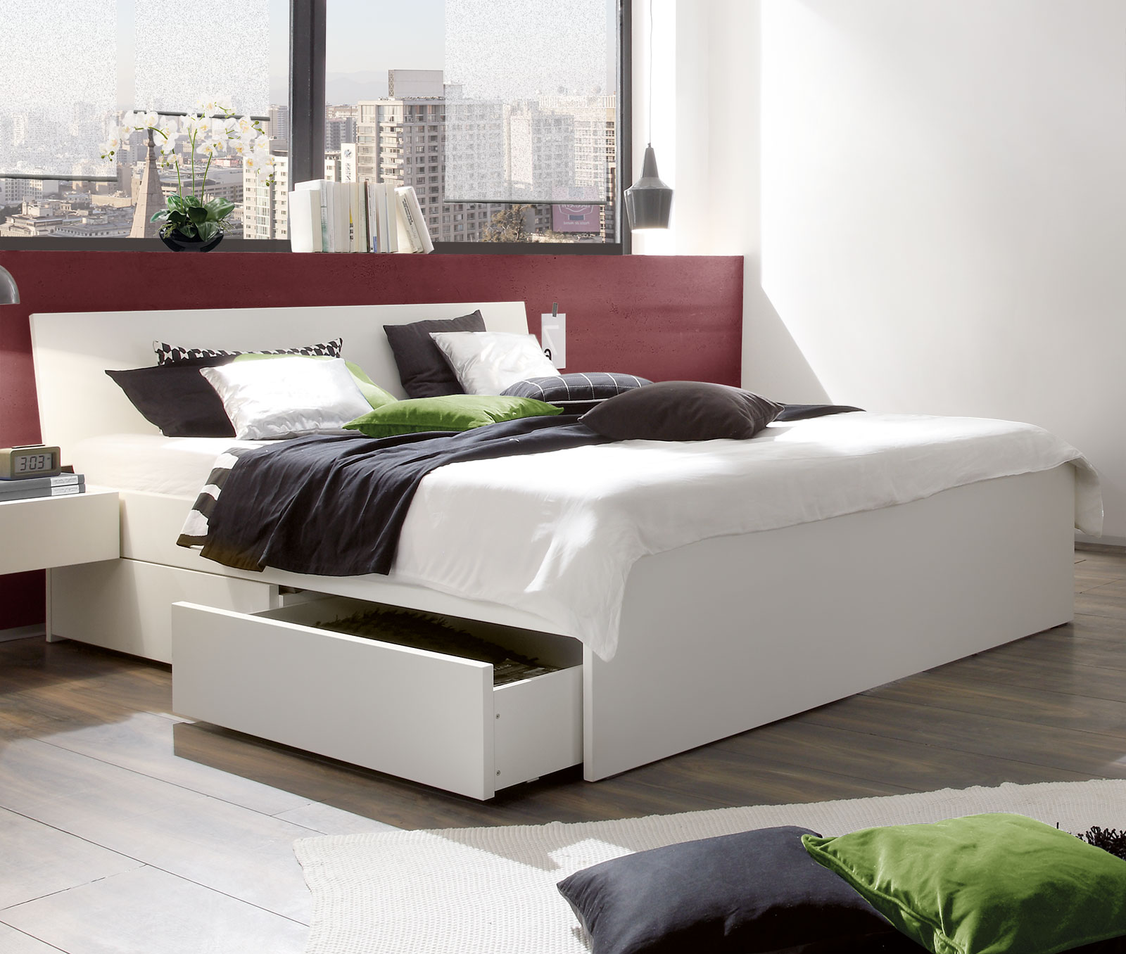 Full Size of Weies Schubkasten Bett In Bergren Erhltlich Liverpool Bett Betten.de