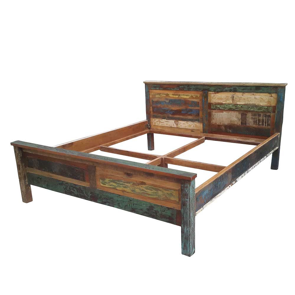 Full Size of Bett Holz Woodstock In Bunt Aus Altem Pharao24de Betten Kaufen 140x200 160 160x200 Mit Lattenrost Amazon 180x200 Stauraum Esstisch Massivholz Paletten Hülsta Bett Bett Holz