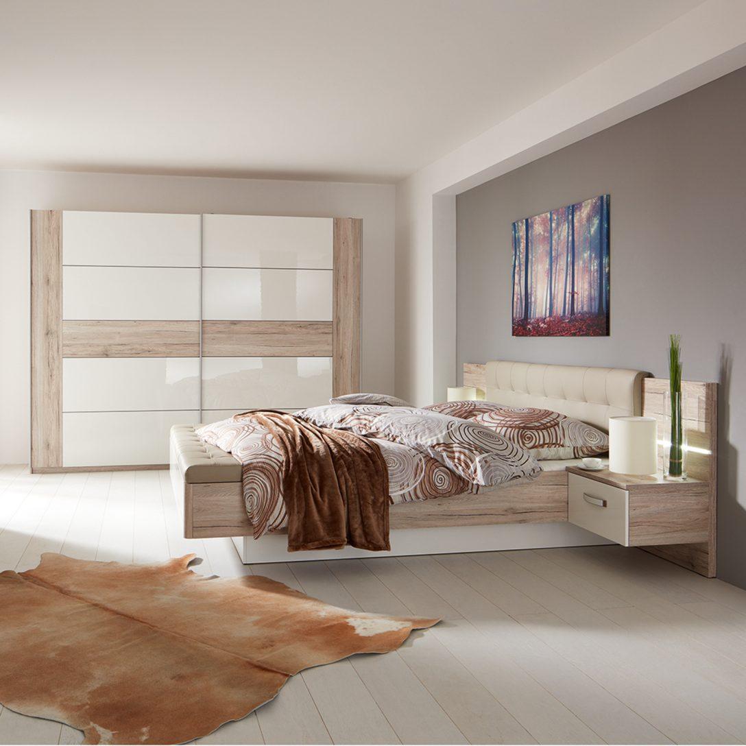 Large Size of Schlafzimmer Set Ellahome 4 Teiliges Sandeiche Wei Online Led Deckenleuchte Komplett Guenstig Deckenlampe Romantische Vorhänge Deckenleuchten Lampen Wandlampe Schlafzimmer Schlafzimmer Set