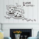 Wandtattoo Küche Ich Liebe Kaffee Wand Aufkleber Removable Schne Billige Fliesenspiegel Erweitern L Mit Elektrogeräten Bauen Wohnzimmer Wasserhahn Für Küche Wandtattoo Küche