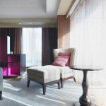Schlafzimmer Stuhl Und Ottomane Im Neben Fenster Lizenzfreies Mit überbau Günstige Komplett Massivholz Teppich Nolte Deckenlampe Wandtattoo Lampen Led Schlafzimmer Schlafzimmer Stuhl