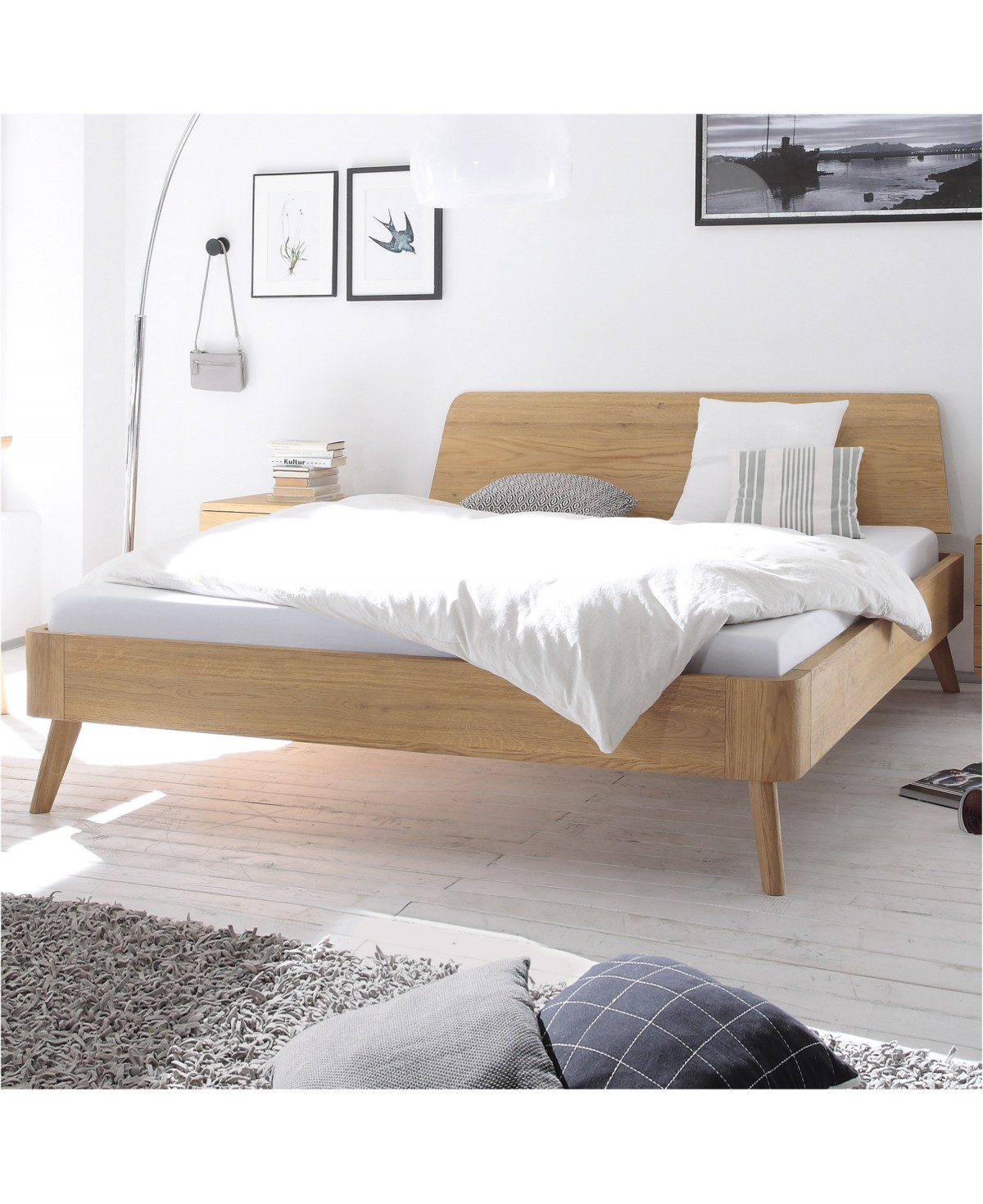 Full Size of Hasena Oak Bianco Eiche Bett Masito 25 Kopfteil Edda 120x200 Mit Unterbett Metall Weiß Wohnwert Betten Baza 160x200 Lattenrost Und Matratze Dormiente Bett Bett 120x200