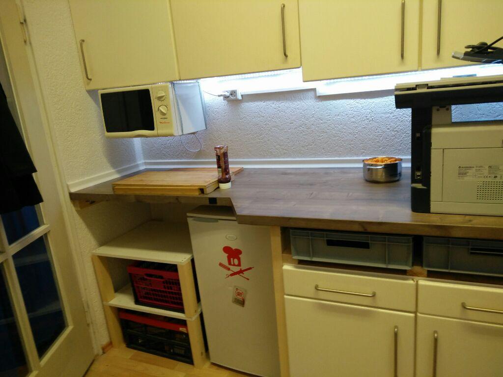 Full Size of Küche Erweitern Binary Kitchen On Renovierungswochenende Mehr Space Im Gardinen Für Die Grifflose Eiche Wandtatoo Ikea Kosten Obi Einbauküche Bodenbeläge U Küche Küche Erweitern